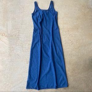 Retro Denim Sleeveless Jumper Dress Faded Glory